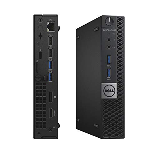 Dell Optiplex 3050 Micro, Intel Core i5-6500T, 8GB DDR4 Ram, 256GB Solid State Drive SSD, Keyboard & Mouse, Windows 10 Pro (Renewed)