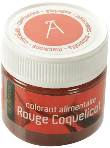 Les Artistes-Paris A-0403 Colorant Alimentaire Rouge Coquelicot