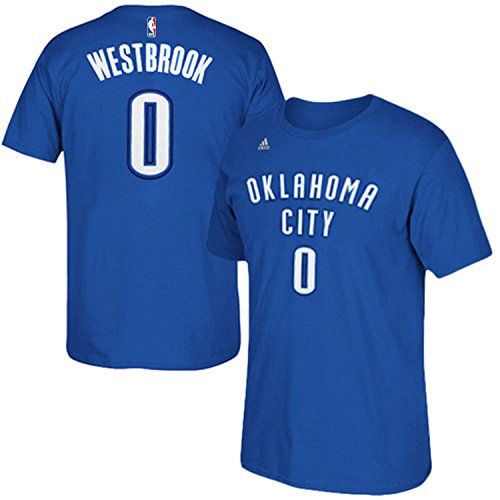 NBA Youth 8-20 Performance Game Time Team Color Player Name and Number Jersey T-Shirt (Medium 10/12, Russell Westbrook)