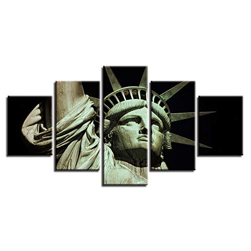 5 Canvas paintings Art Poster Home Decor Canvas Living Room Pictures Statue Of Liberty HD Printed Modern Painting Wall Frameless