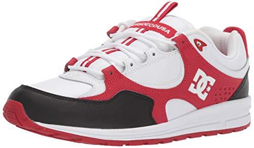 DC Men's Kalis LITE Skate Shoe, Black/White/red, 11 M US