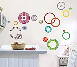 Colors circle three generation removable wall stickers