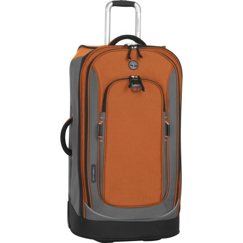 Timberland Luggage Claremont 30-Inch Upright Suitcase, Burnt Orange/Grey, One Size