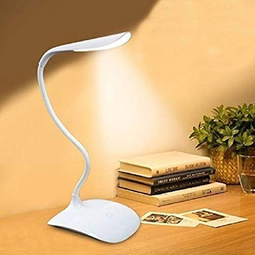 Lime Sky Rechargeable LED Touch On/Off Switch Desk Lamp Children Eye Protection Student Study Reading Dimmer Rechargeable Led Table Lamps USB Charging Touch Dimmer(Desk Lights for Study)