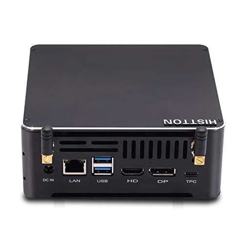 HISTTON Mini PC, Desktop Computer Intel Comet Lake i7-8565U Windows 10 Pro, Quad Core 64 bit, 32GB DDR4 512GB SSD, HDMI/DP/LAN/TPC/USB3.0/WiFi/BT4.2