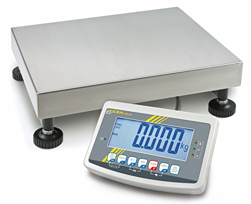 Balanza de plataforma [Kern IFB 60K10dlm] Plataforma resistente Báscula con escaneado aprobación [M], rango de pesaje [Max]: 30kg/60kg, Lectura [D]: 10g/20g, reproducibilidad: 10g/20g, linealidad: 10g/20g, placa de pesaje: Alto 500x 400x 137mm (Acero Inoxidable)