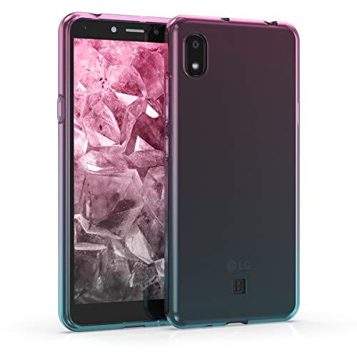 kwmobile Hülle kompatibel mit LG K20 (2019) - Hülle Handy - Handyhülle Zwei Farben Pink Blau Transparent
