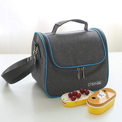 MYHH Bolsa de almuerzo de tela Oxford con aislamiento térmico para pícnic, caja Bento, tamaño: 22 x 16 x 20 cm.
