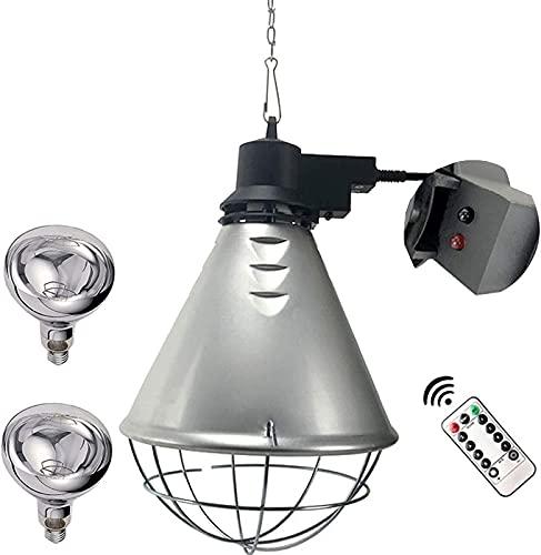 MARHD Lámpara de Calor para Cachorros, lámpara de calefacción de Invierno para Aves de Corral para Gatito, Pollo, Cordero, luz Amarilla/lámpara de Calor infrarroja, lámpara de Calentamiento de Plant