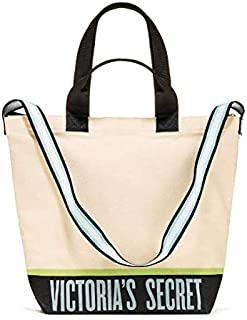 SOLD OUT ONLINE - VICTORIA SECRET PINK CANVAS/CHAIN LIMITED QUALITIES COOLER/TOTE BEACH BAG POOL TOTE