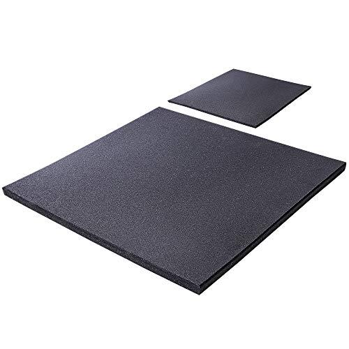 GORILLA SPORTS® Boden-Schutzmatte 100 x 100 x 2 cm Gummi – Unterlegmatte rutschfest und schalldämmend bis 1000 kg belastbar