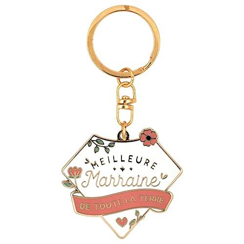 Porte clés marraine | Meilleure marraine de toute la Terre | cadeau marraine, porte-clefs marraine,...