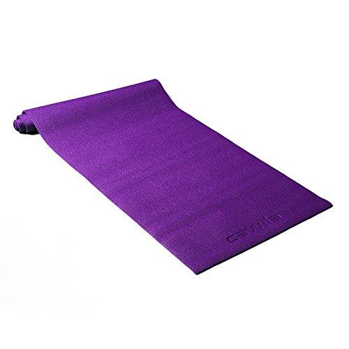 Cawila Studio Yoga-, Fitness- und Gymnastikmatte, rutschfest, 185 x 61 x 0,5cm