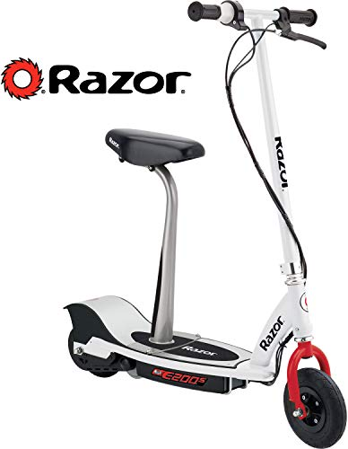 Razor E200S Seated Electric Scooter - White/Red
