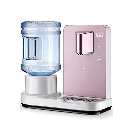 H&RB Dispenser Acqua Calda Da 6 Secondi Con Mini Distributore Di Acqua Da Tavolo, Erogatore Di Acqua Calda Sanitaria Con Ripiano Superiore Caldo/Freddo Con Serratura Di Sicurezza Per Bambini,Pink