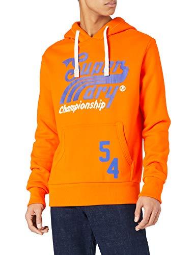 Superdry Collegiate Graphic Overhead Sweat à Capuche, Denver Orange, XL Homme