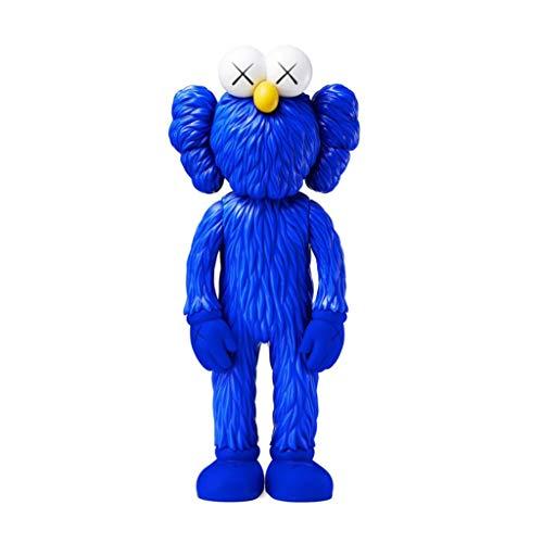 CQ KAWS BFF MOMA Azul Modelo de la versión Arte Juguetes Figura de acción Coleccionable for Regalo de San Valentín 30CM Toys