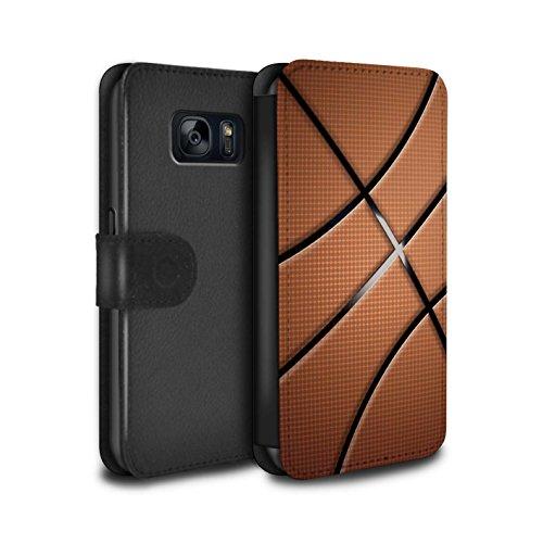 Stuff4 PU-Leder Hülle/Case/Tasche/Cover für Samsung Galaxy S7/G930 / Basketball Muster/Sport Bälle/Ball Kollektion