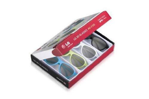 LG AG F315 Party Pack 4 paires de Lunettes Cinéma 3D Noir/Blanc/Vert/bleu