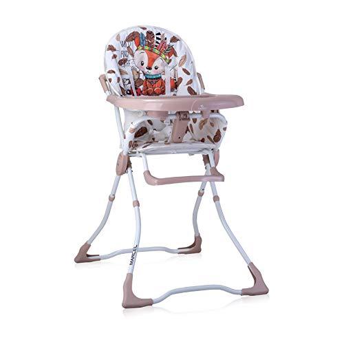 Lorelli, chaise haute Marcel, pliable, creux de tasse, tissu lavable, coloris:beige