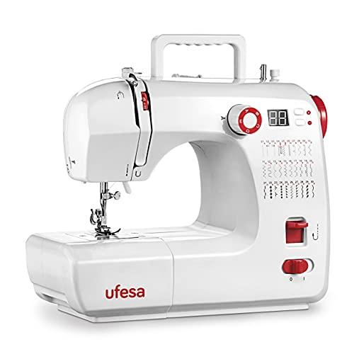 Ufesa SW3003 Performance Máquina de Coser con 30 Puntadas, Pantalla LCD, 2 Velocidades, Luz de Costura, Pedal/Interruptor Manual, 12V de Potencia