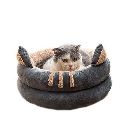 Queta Cuccia per gatti. Un nido di medie dimensioni adatto per gatti, gattini, cuccioli e cuccioli. Una cuccia morbida e confortevole per tutte le stagioni, 40 cm (design a panette)