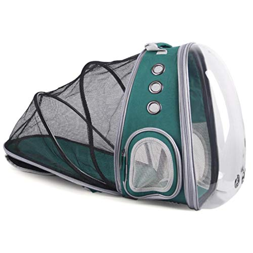 AllForYou Cat Transparent Backpack for Small Dog Visible Capsule Pet Cat Breathable Carrying Cage Traveler Puppy Kitten Pet Carrier Bag