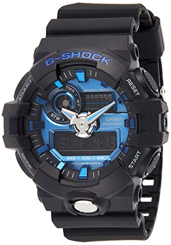 Casio GA710-1A2 G-Shock Standard Analog-Digital Men's Watch (Black/Blue)
