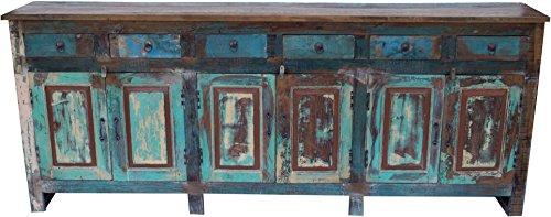 Guru-Shop XXL Vintage Ladenkast met 6 Deuren en 6 Laden, 91,5x228,5x40 cm, Ladekasten Dressoirs