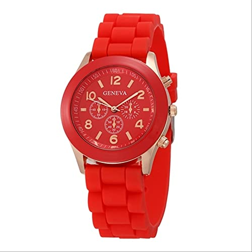 QWYU Fashion Silicone Women Watch Simple Style Wrist Watch Silicone Rubber...