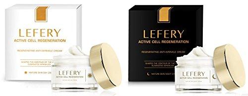 Crema de ultrarregeneración de células y arrugas, día y noche, Lefery