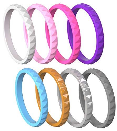 MAUI RINGS Ring Damen Ring Silicone Wedding Ring for Women Diamant Geschenk für Frauen Geschenk Schmuck Damen Schmuck Ringe Set Eheringe Gold Silicone Wedding Band Coole Sachen Partner Geschenke