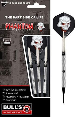BULL'S Phantom Pt2 Soft Dart 20g, Silber