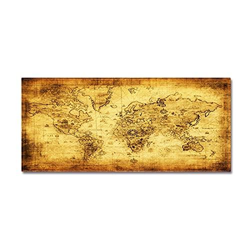 NHhuai Suave Alfombra para salón Dormitorio baño sofá Silla cojín Mapa topográfico Retro hogar Felpudo Cocina