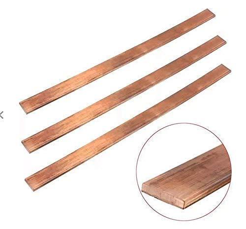 SUCAN 3mm x 15mm x 250mm Kupfer T2 Cu Metall Flat Bar