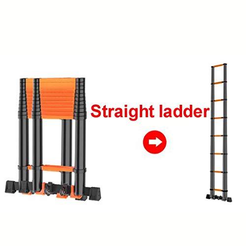 Telescópico Aluminio Aleación Escalera,multifunción Escalera Extensión Escaleras De Mano Extensible Anti-slip Plegable Escalera Multi-propósito Escalera-a8 5.2m