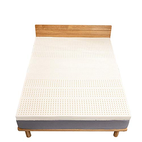 Simple Style Natural Latex Mattress Single Double Mattress, Moderately Soft and Hard Adult Mattress, Decompression and Ventilation, Strong Resilience,180x200,5cm