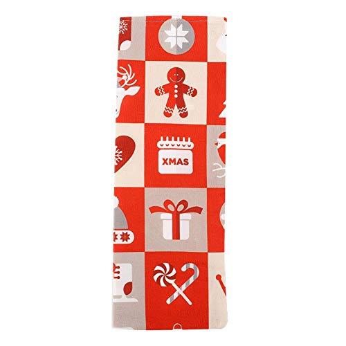 lqgpsx Weihnachts-Weinflaschen-Verpackung, Weihnachtsdekoration Weihnachts-Weinflaschen-Abdeckbeutelhalter für die Hausbar Verwendung mit Seil