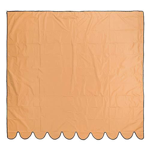 BESTSOON Toldo de jardín 210D con revestimiento de plata de tela de poliéster Oxford para exteriores, jardín, patio, toldo impermeable (tamaño: 3,5 x 2,5 m, color: naranja)