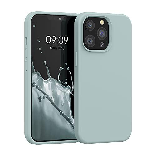 kwmobile Hülle kompatibel mit Apple iPhone 13 Pro - Hülle Silikon gummiert - Handyhülle - Handy Hülle in Frosty Mint