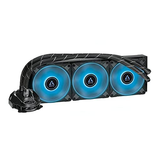 ARCTIC Liquid Freezer II 360 RGB - Disipador líquido All-in-One para CPU con RGB, compatible con Intel y AMD, pompa eficiente controlada por PWM, velocidad del ventilador: 200-1800 RPM - Negro