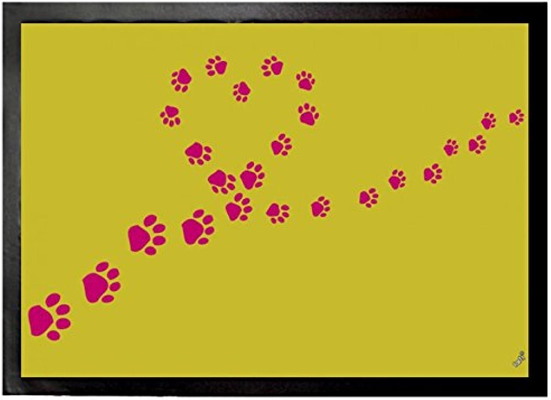Footprints Door Mat Floor Mat - Heart Paws (28 x 20 inches)