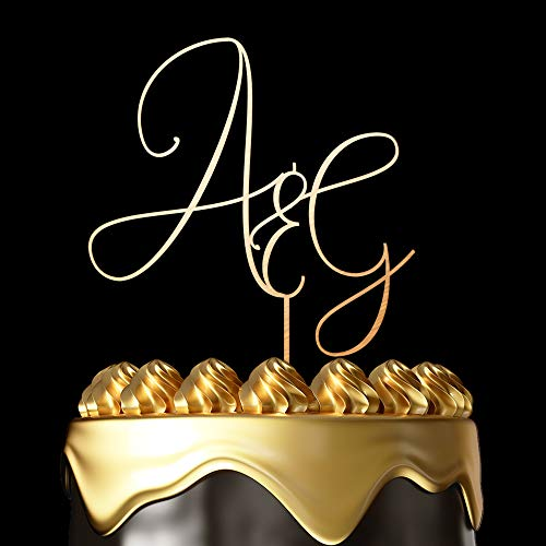Luxtomi - Personalized Wedding Cake Toppers - Mr and Mrs - Customize Your Own Anniversary Cake Topper by Choosing The Design, Color, Text and Size - Made in USA