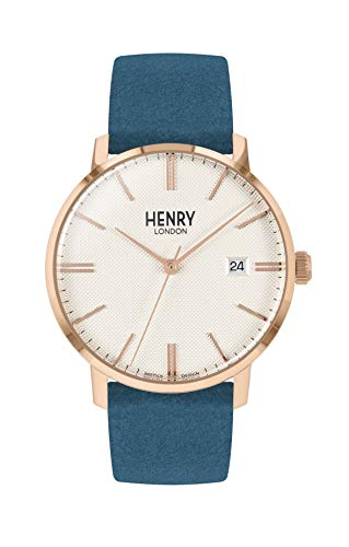 Henry London Orologio Analogico Quarzo Unisex Adulto con Cinturino in Pelle HL40-S-0360