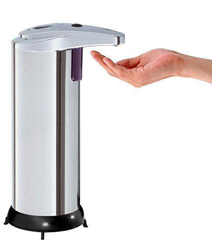 Kitchen Move bat-01e Zeitgenössische Automatischer Seifenspender Edelstahl/ABS/Kunststoff Edelstahl 11x 7,5x 18,5cm