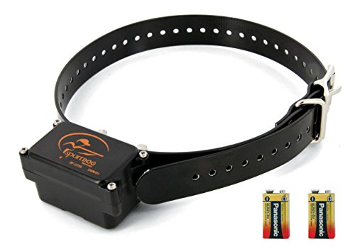SportDog in-Ground Fence Collar - Waterproof Receiver - 4 Adjustable Levels of Correction - SDF-R Add-A-Dog Collar - Tone - Vibration - Bonus Two 9 Volt Batteries.