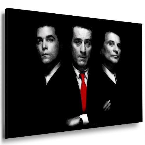 Boikal / Leinwand Bild Goodfellas Robert NIRO Mafia Leinwanddruck, Kunstdruck fm24 Wandbild 70 x 50 cm