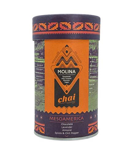 Molina Chai Mesoamerica - 300gr Premium Chai Latte mit Bio-Kokosblütenzucker - Klassische Gewürzmischung mit Schokolade, Lavendel und Mandel Geschmack - Laktosefrei