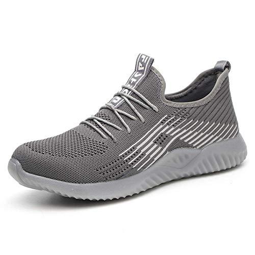 YISIQ Veiligheidsschoenen Mannen Vrouwen Staal Teen Trainers Lichtgewicht Werk Schoenen Ademende Beschermende Werk Industriële Sneakers