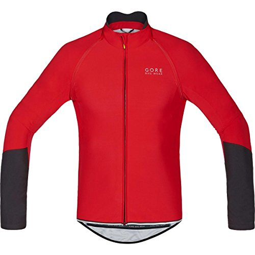 Gore Wear Power Windstopper Soft Shell Zip-Off Maillot, Hombre, Rojo/Negro 2017, L